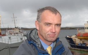 John Barton, Director of the Fisheries Department denies the trawler had a Falklands license