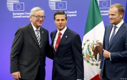 Mexican negotiators are in Brussels this week, with the two sides due to reconvene next week in Mexico.