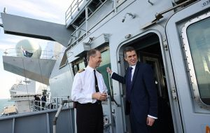 """I'm sure our friends in Gibraltar will be proud to see our future flagship sail through British waters into their famous port"" said Defense Secretary Williamson"