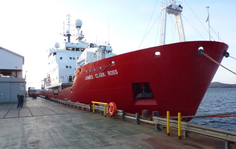 The international team, from nine research institutes, leaves Stanley on 21 February on board the BAS research ship RRS James Clark Ross