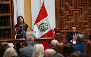 Peru's Foreign Minister Cayetana Aljovin told a news conference that Maduro would not be welcome at the Summit of the Americas in Lima on April 13 and 14.
