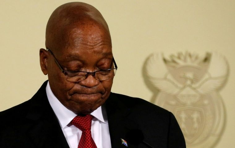 South Africas Zuma Steps Down Ignominious End For A Clepto