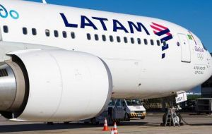 Currently there is a weekly LATAM flight to and from Chile, which includes a monthly stop in Argentina, once in each direction