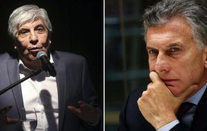 Moyano probably the most powerful of all union leaders and with loyal teamsters that can stop Argentina, has chosen to defy and battle Macri.