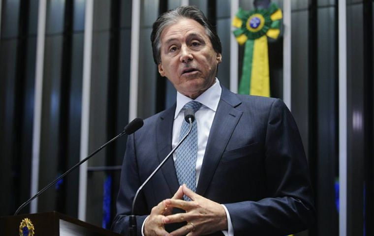 Senate chief Eunicio Oliveira said the federal military intervention in Rio blocks any measure requiring a constitutional amendment, including pensions' reform.