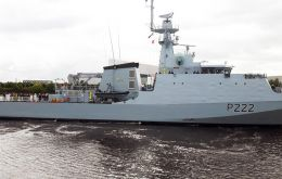 HMS Forth is the first of a class of five state-of-the-art RN vessels, designed for counter-piracy, anti-smuggling, fishery protection, border patrol, counter terrorism