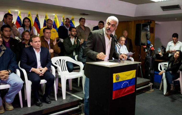 """Do not count on the Unit or the Venezuelan people to endorse what until now is only a fraudulent and illegitimate simulation of the presidential election."""
