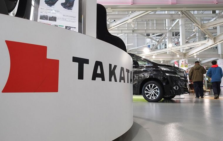 Takata's US arm is currently in bankruptcy proceedings so the penalty will not be collected.