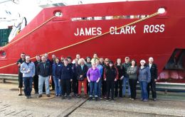 The international team left Stanley in the Falkland Islands and will spend three weeks on board the BAS research ship RRS James Clark Ross.