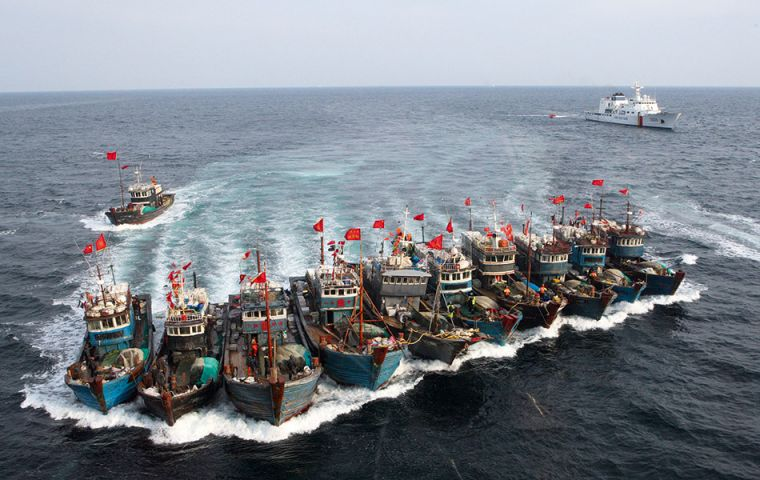 Scientists at Global Fishing Watch, that use satellite data to track fishing activity, examined some 22bn ship-location data points for 70,000 industrial fishing vessels