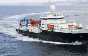 The James Cook Research ship will dock at Praça Mauá in Rio de Janeiro on February 27th