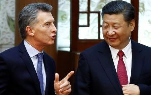 President Macri and his Chinese peer Xi Jinping
