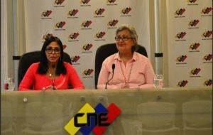 CNE president made the announcement during a joint press conference with the head of the ruling party's National Constituent Assembly (ANC), Delcy Rodriguez