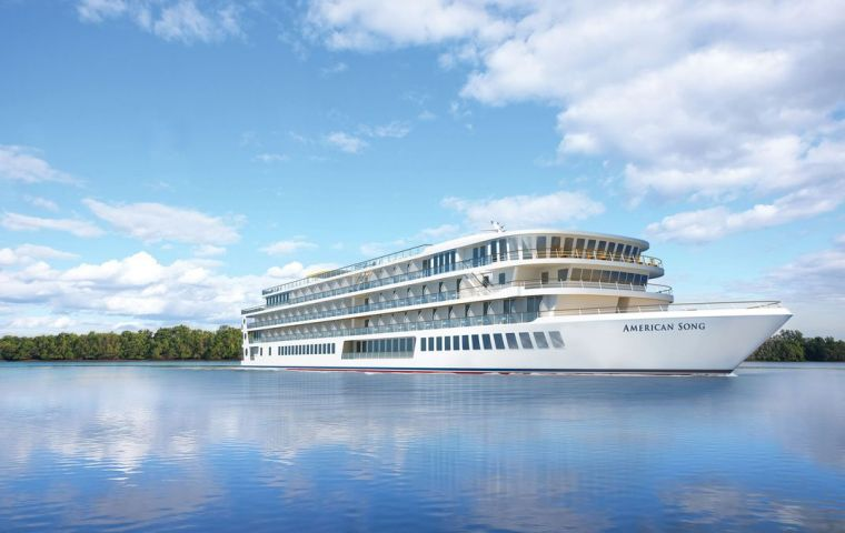 "The second riverboat is the sister-ship to ""American Song"", which will make its inaugural cruise on the Mississippi River this October."