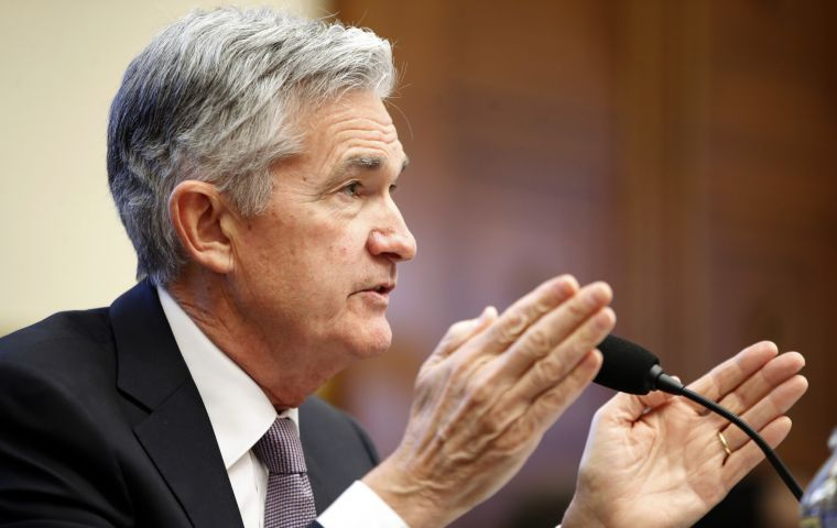 """FOMC will continue to strike a balance between avoiding an overheating economy and bringing ... price inflation to 2 percent on a sustained basis,"" Powell said"
