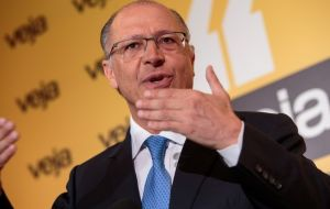 Governor Alckmin said during a television interview that he favored private ownership of Petrobras as long as the sale was within a strict regulatory framework