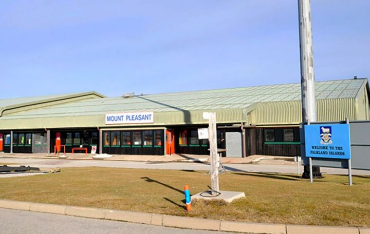 Mount Pleasant Complex, the Falklands' international airport and terminal