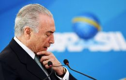 The case refers to a dinner at Temer's residence, Jaburu Palace, in May 2014, at which an illegal payment of 10 million Reais (US$3,08m) was allegedly agreed.