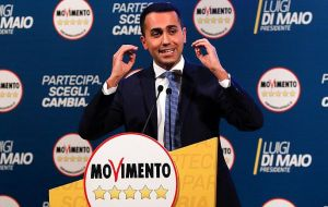 "Five Star leader Luigi di Maio told staff in January that ""it's the numbers that are forcing us"" to consider a coalition with the Northern League"