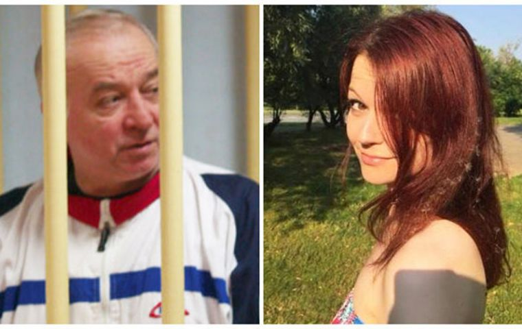 Sergei Skripal and his daughter were found collapsed in their home town in southern England on Sunday, showing symptoms of poisoning.
