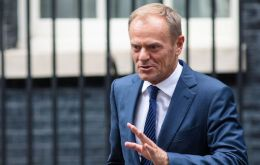 "an Parliament's Donald Tusk said the EU wanted an ""ambitious and advanced"" free trade deal - and continued access to UK waters for EU fishing vessels."