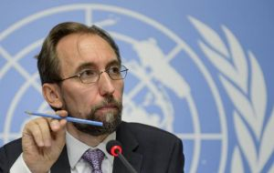 "Zeid Ra'ad Al Hussein said Wednesday before the Human Rights Council in Geneva that ""the situation in Venezuela is deeply alarming."""