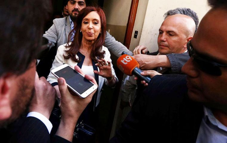 Cristina Fernandez, who was president in 2007-2015, denies any wrongdoing or involvement in any cover-up involving Argentina's worst terror attack.