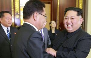 South Korea's special delegate meets Kim Jong Un in Pyongyang
