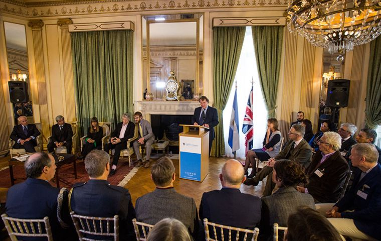 Ambassador Sersale di Cerisamo during the event at the Argentine embassy