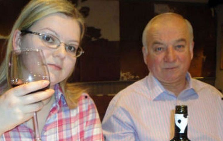 Former spy Mr Skripal, 66, and his daughter, Yulia Skripal, 33, remain critically ill in hospital. Detective Sgt Nick Bailey also fell ill responding to the incident