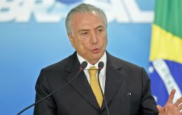 Temer urged Brazilian steel producers and their U.S. clients to work together in lobbying the U.S. government and Congress to modify the tariffs