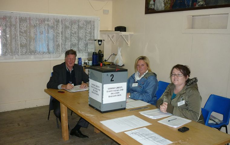 Falkland Islanders like to vote and turnout is very significant