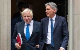 Hammond (R) will be participating in the G20 finance ministers meeting next week and Boris Johnson (L) will be in Buenos Aires in May.