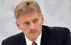 "Kremlin spokesman Dmitry Peskov said Russia was not worried by international expressions of support for UK and challenged UK to ""provide some confirmation"""