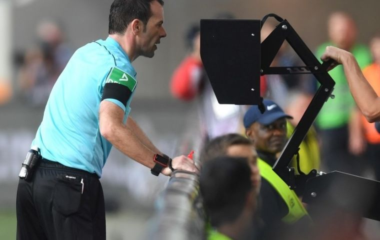 VAR was first used at the Club World Cup in December 2016, and trialed in the 2017 Confederations Cup.