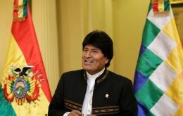 """We are going to make history, with the truth, with the law. We are convinced that justice for Bolivia will be achieved"", said president Morales."
