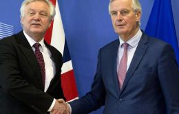 The differences between the UK and EU were evident during a press conference in Brussels as Mr. Davis and Mr. Barnier answered questions on the issue.