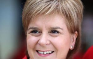 "Scotland's FM Sturgeon tweeted that fishing agreement during the implementation period was ""shaping up to be a massive sell-out of the Scottish fishing industry"""