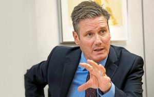 "Labour's shadow Brexit secretary Keir Starmer said the agreement was ""a step in the right direction"""