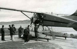 FIGAS has been an integral part of Falklands' life since 1948 and its very first Islander, destroyed in the Falklands War, entered service in October 1979. (Pic ThinkDefence)