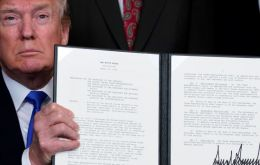 Trump signed a presidential memorandum directing the US Trade Representative to publish a proposed list of products in 15 days, with an intended tariff increase