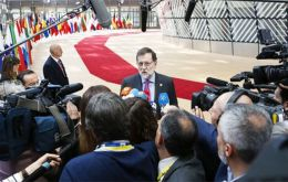 Mr Rajoy was speaking to Spanish reporters after EU leaders cleared a deal on Britain's 21-month transition to Brexit and approved guidelines