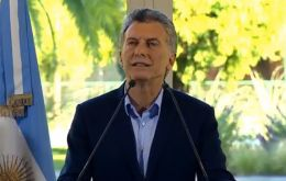 President Mauricio Macri will receive the relatives of the Malvinas fallen who last week travelled to the Falklands