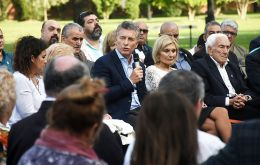 """Each April 2nd, we will remember and honor those young men that made the supreme sacrifice, a pledge we will never give up"", Macri told the next of kin"