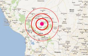 The observatory put the quake's magnitude at 6.6, but the U.S. Geological Survey (USGS) said it was 6.8.