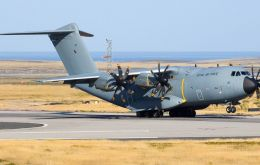 The A400M completed the 20 hour journey from UK last week