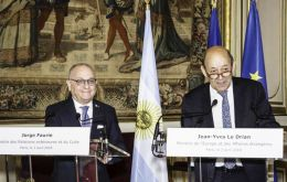 Faurie and Jean-Yves Le Drian agreed that the world is immersed in a debate between economic nationalism and multilateralism