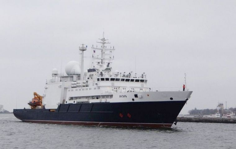 The high tech Russian vessel most recently involved in the search was the oceanographic ship Yantar.