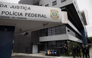 Finally in custody, the 72-year-old was driven under escort to Sao Paulo police headquarters for a medical exam. He was then flown to Curitiba