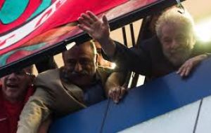 The arrest ended four straight days of at times surreal drama as Lula, as Lula tried to resist at the metalworkers union in Sao Bernardo do Campo